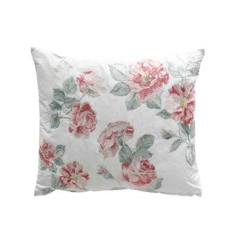 หมอนอิง#3704437 ขาว ลายดอกชมพู-00