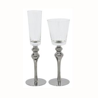 แก้ว#YSTD แก้ว สีเงินใส/YLC Set of 2-00