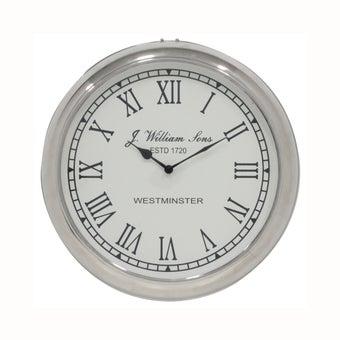 นาฬิกาติดผนัง#50963 โลหะ สีเงิน/TK