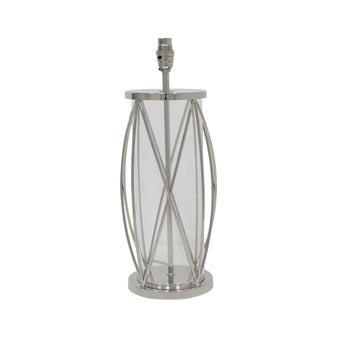 ฐานโคมไฟตั้งโต๊ะ#3688858 แก้ว สีเงิน-00