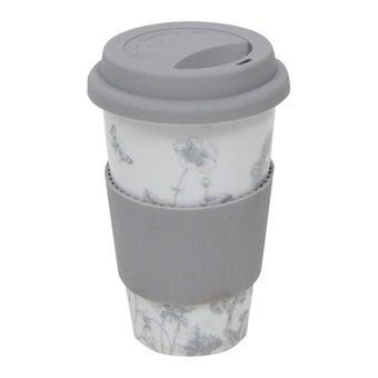 แก้วกาแฟ+ฝา#3725498 เซรามิค สีเทา