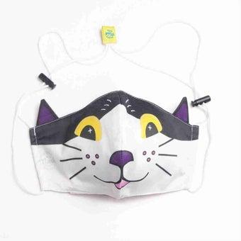 หน้ากากอนามัยแมว/หน้าขาว/ดำ-01
