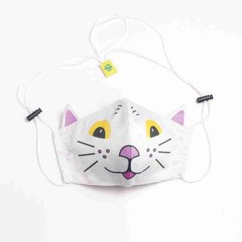 หน้ากากอนามัยแมวหน้าขาว/หูม่วง-01