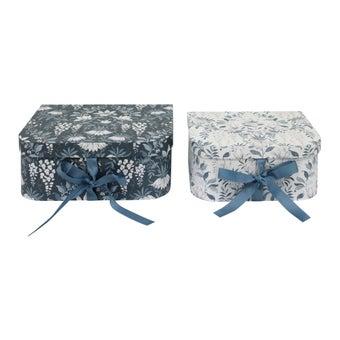 กล่องอเนกประสงค์#3744452 กระดาษ สีน้ำเงิน Set of 2