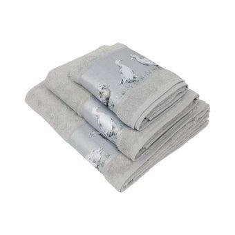 ผ้าขนหนู#3736521 สีเทา ลายเป็ด-00