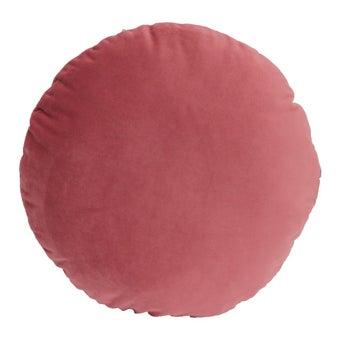 หมอนอิง006-30สีชมพู/45X45/วงกลม-00