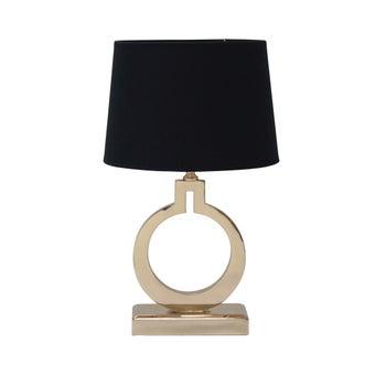 SBโคมไฟตั้งโต๊ะ#JM6925S/โลหะผ้าดำทอง/JMP สีทอง1