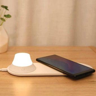 แท่นชาร์จไร้สาย+ไฟ Xiaomi Yeelight Wireless Charger Night Light/FLK สีขาว1