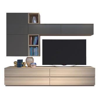 ชุดวางทีวี ขนาด 240 ซม. รุ่น Infinity สี Tortora