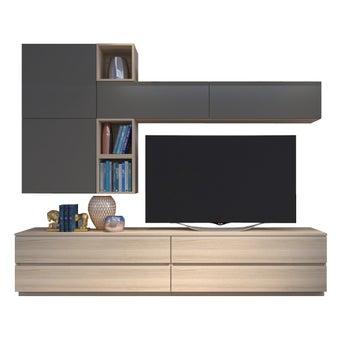 ชุดวางทีวี ขนาด 240 ซม. รุ่น Infinity สี Tortora-01