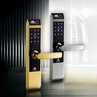 อุปกรณ์รักษาความปลอดภัยภายในบ้าน กลอนประตูดิจิตอล สีสีเงิน-SB Design Square