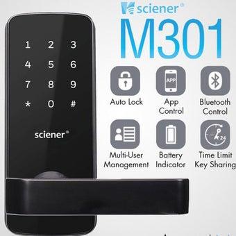 กลอนประตูดิจิตอล รุ่น M301 Bluetooth + Application ตั้งรหัสจากมือถือได้