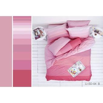 Lotus ชุดผ้าปู 5ฟุต 5ชิ้น พร้อมผ้าห่มนวม รุ่น Impression Stripies : LI-SD 04B