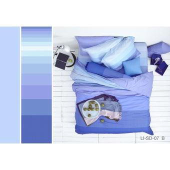 Lotus ชุดผ้าปู 6ฟุต 5ชิ้น พร้อมผ้าห่มนวม รุ่น Impression Stripies : LI-SD 07B