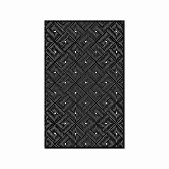เสื่อ PDM BRAND EASE (Black-White) Size M-01