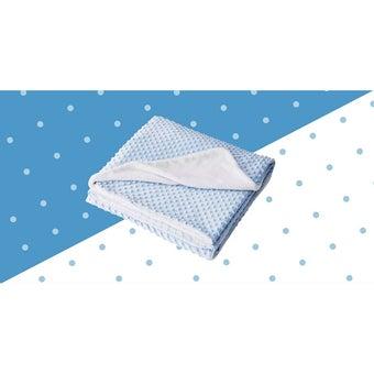 ผ้าห่ม Lotus ECO-FUR BLANKET สีฟ้า (ผ้าห่มขนสัตว์เทียม) ขนาด 60 * 80 นิ้ว -00