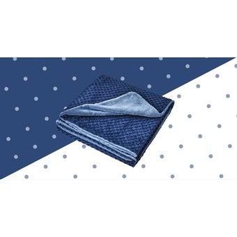ผ้าห่ม Lotus ECO-FUR BLANKET สีน้ำเงิน (ผ้าห่มขนสัตว์เทียม) ขนาด 60 * 80 นิ้ว -00