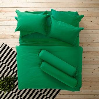 Lotus ชุดผ้าปู 6ฟุต5ชิ้น รุ่น Impression Solid : LI-SD 13 สีเขียว2