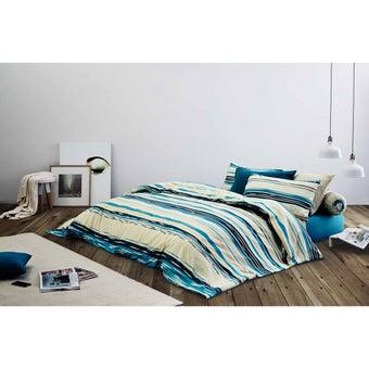 Midas ชุดผ้าปู 6ฟุต 4ชิ้น พร้อมผ้าห่มนวม รุ่น Basic Living MD-BL-03 สีหลาก01