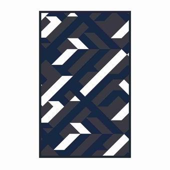 เสื่อ PDM BRAND AVALON (Indigo-White) Size L-01