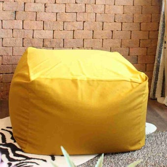 หมอนอิงและสตูล สตูล โซฟา สีสีส้ม-SB Design Square