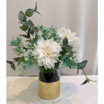 8@NINE ดอกไม้ปลอม/EN09-002/สีขาว