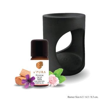 a ฟุตPURA น้ำมันหอมระเหย100% กลิ่น บูมมิ่ง ผสม เปบเปอร์มินต์, เกรปฟรุต, ดอกส้ม, มะนาวเขียว,โรส,เจอราเนียม ,ไม้แซนดร้าวูด,7