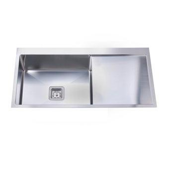 อ่างล้างจาน 1 หลุม 1 ที่พัก TEKA รุ่น TQB 1B 1D R10 หลุมซ้ายที่พักขวา