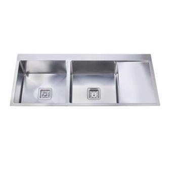 อ่างล้างจาน 2 หลุม 1 ที่พัก TEKA รุ่น TQB 2B 1D R10 หลุมซ้ายพักขวา