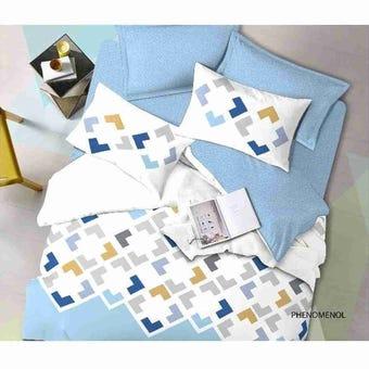 ชุดผ้าปูที่นอน ชุดผ้าปูที่นอน+ผ้านวม สีสีฟ้า-SB Design Square