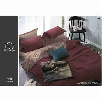 ชุดผ้าปูที่นอน ชุดผ้าปูที่นอน+ผ้านวม สีสีแดง-SB Design Square