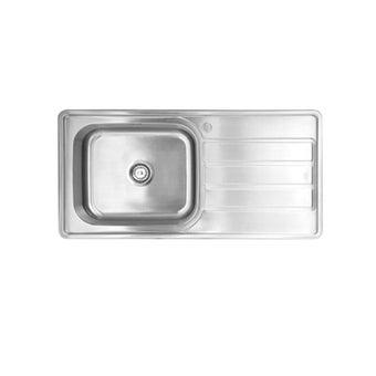 อ่างล้างจาน 1 หลุม 1 ที่พัก  TEKA รุ่น T PLUS 1B 1D แถมฟรี ก๊อกน้ำเย็น-01