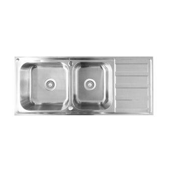 อ่างล้างจาน 2 หลุม 1 ที่พัก  TEKA รุ่น TX 2B 1D แถมฟรี ก๊อกน้ำเย็น-01