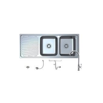 HAFELE อ่างล้างจาน 1 หลุม รหัส 495.39.413 สีสแตนเลส-00
