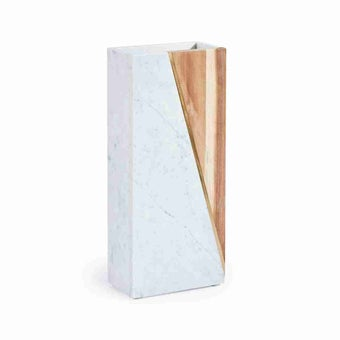 Ralph Living แจกัน รุ่น RL8 Marble+Wood Vase-A