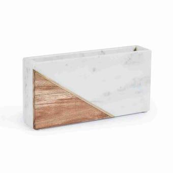 Ralph Living แจกัน รุ่น RL9 Marble+Wood Vase-B