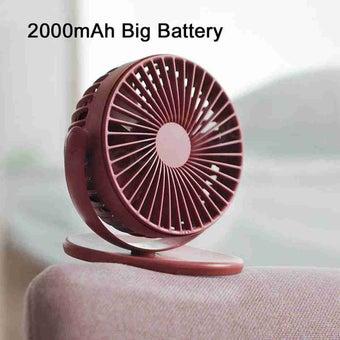 เครื่องใช้ไฟฟ้าในบ้าน พัดลมตั้งโต๊ะ สีสีแดง-SB Design Square