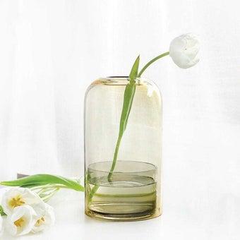 แจกัน Noonmoou Layer vase Grey-Yellow