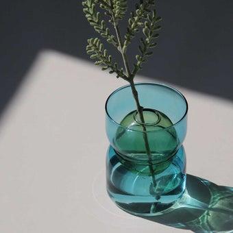 แจกัน Noonmoou Bubble vase Blue-Yellow(S)