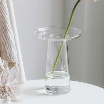 แจกัน Noonmoou Tulip vase Clear