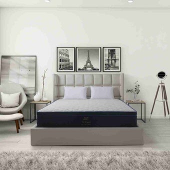ที่นอน ที่นอนพ็อคเก็ตสปริง+ยางพารา สีสีเข้ม-SB Design Square