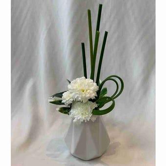 8@NINE ดอกไม้ปลอม/EN4 901/CW-s/สีขาว