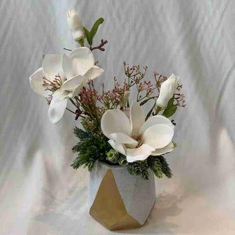 8@NINE ดอกไม้ปลอม/EN4 905/CG-s/สีขาว
