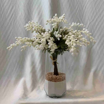 8@NINE ดอกไม้ปลอม/EN4 907/GS-m/สีขาว