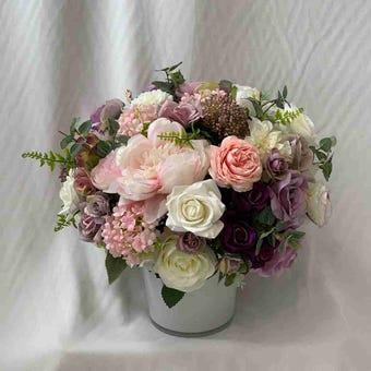 8@NINE ดอกไม้ปลอม/EN4 911/GW-m/สีชมพูม่วง
