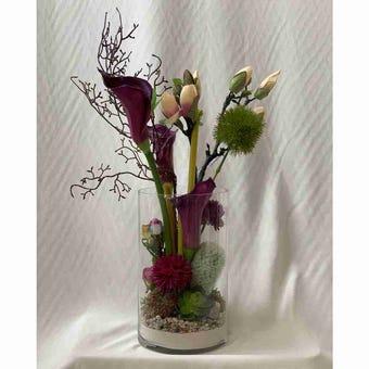 8@NINE ดอกไม้ปลอม/EN4 913/G-m/สีม่วง