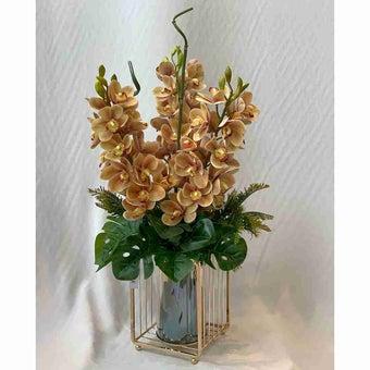 8@NINE ดอกไม้ปลอม/EN4 914/PG-m/สีคาลาเมล-01