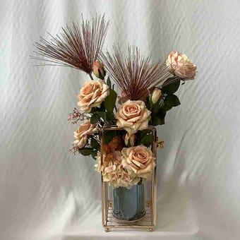 8@NINE ดอกไม้ปลอม/EN4 916/PG-m/สีพีช
