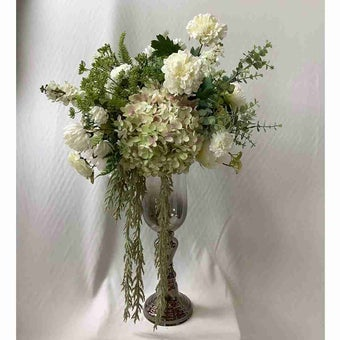 8@nine ดอกไม้ปลอม/EN4 918/SI-L/สีขาวเขียว