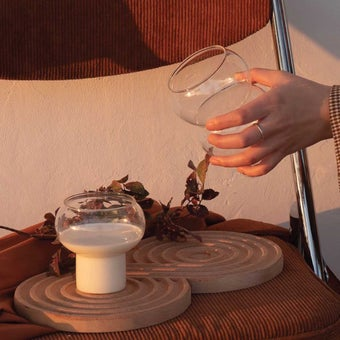 OP.UN Glass Cup Set2 GC0004 สีใส1